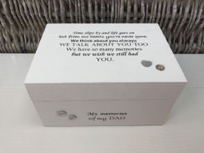 Personalised In Memory Of Box Loved One ~ DAD ~ FATHER any Name Bereavement Loss - 232739870607